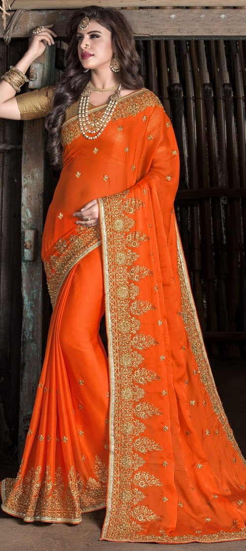 Weight Less Georgette saree Hp-107