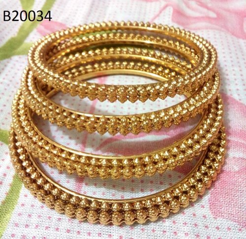 Gold Plated jewelry ornaments Bangles B-20034 (4 pcs)