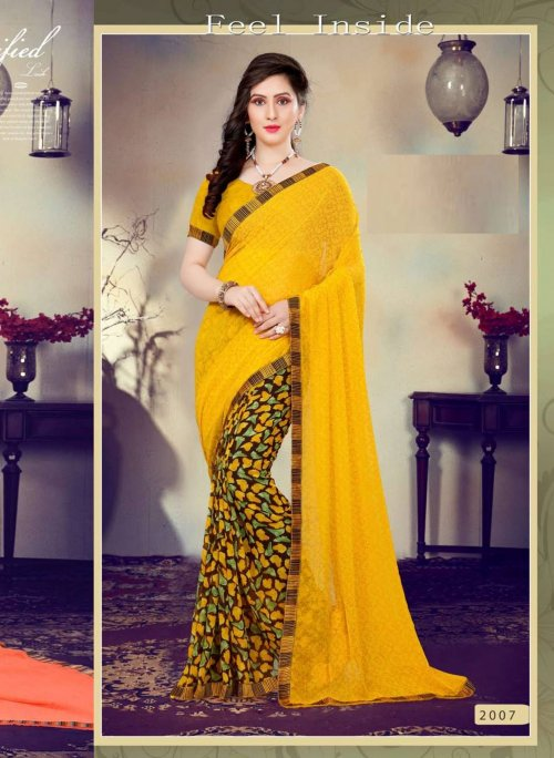 Indian Soft georgette Saree se-181