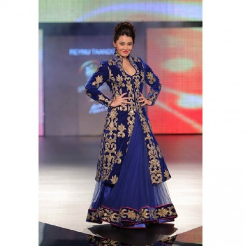 Exclusive Designer Anarkali Suit GRAUN 78D
