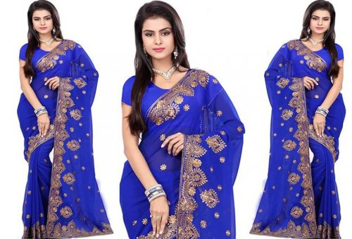Weight Less Georgette saree SS-368