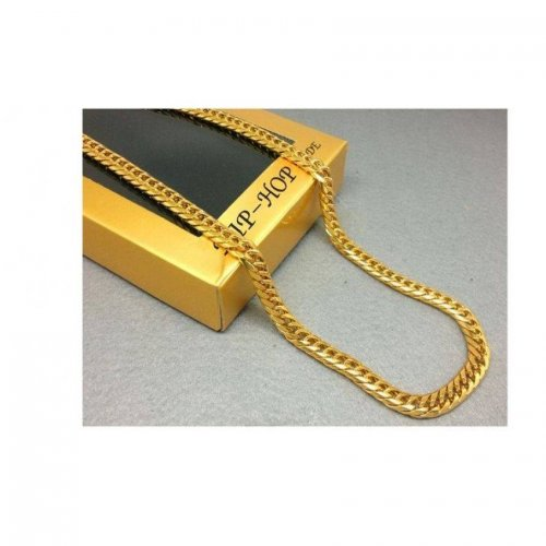 Gold Plated Men's Miami Cuban Link Curb Chain