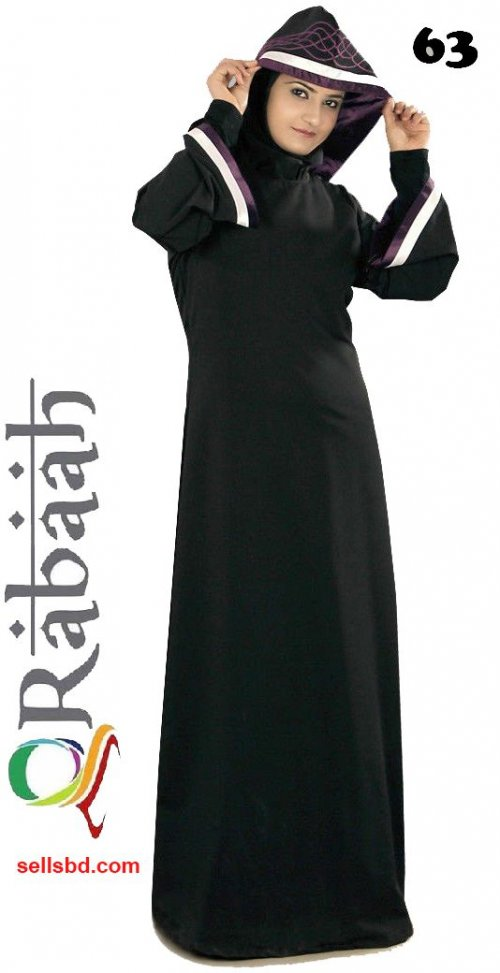 Fashionable muslim dress islamic clothing Rabaah Abaya Burka borka 63