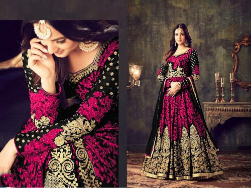 georgette with embroidery work salwar kameez suit maisha 041