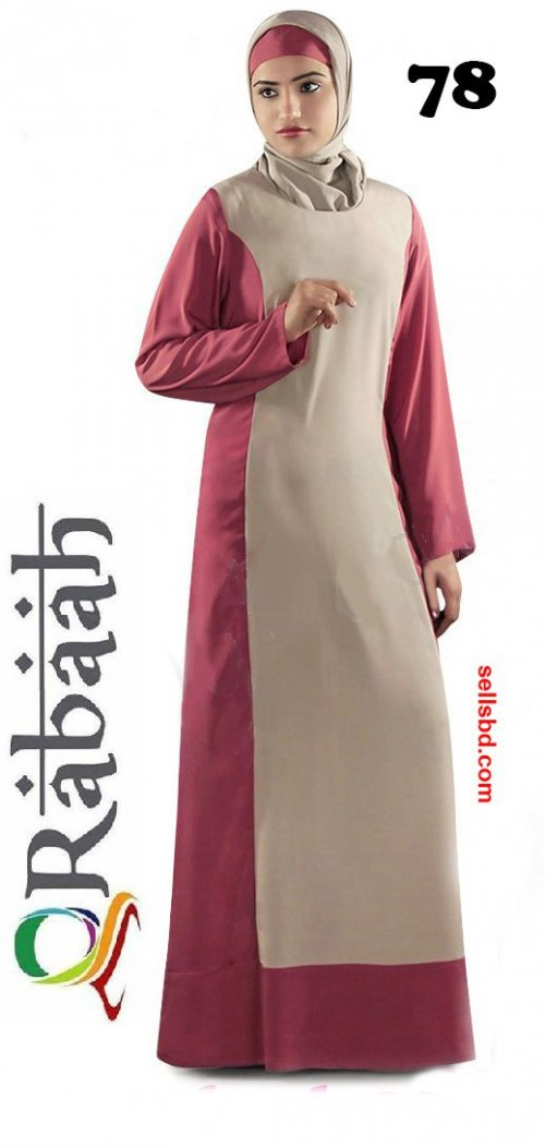 Fashionable muslim dress islamic clothing Rabaah Abaya Burka borka 78