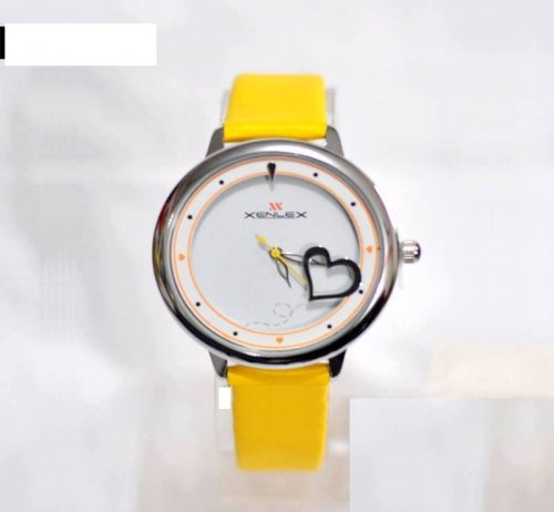 xenlex ladies watch yellow
