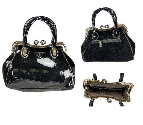 Ladies hand bag PU leather bag bs07