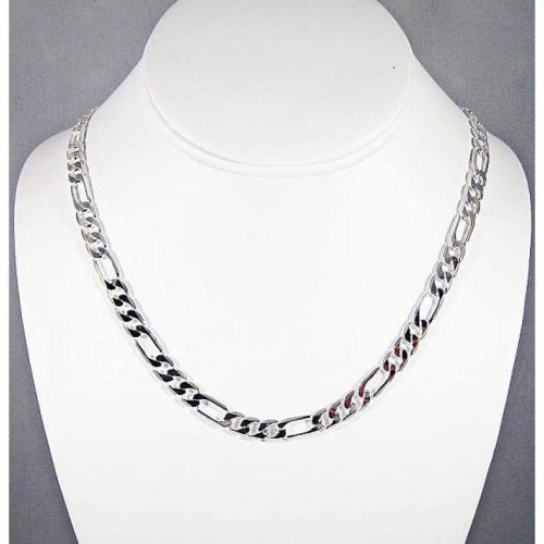 Finish Silver Figaro Chain Necklace
