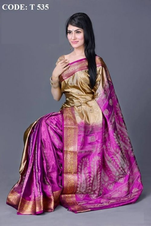Pure Soft Silk saree t535