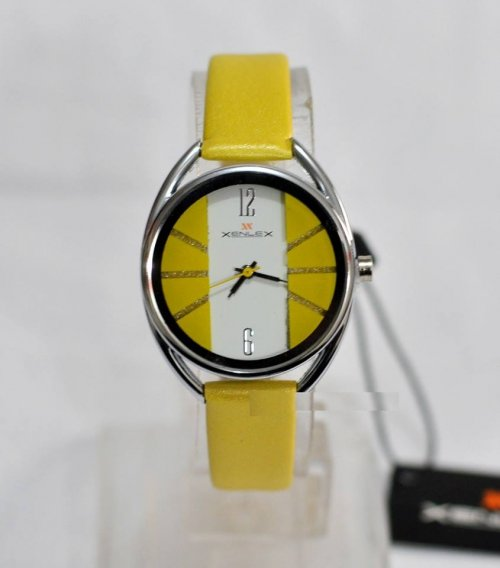 xenlex ladies watch yellow 2