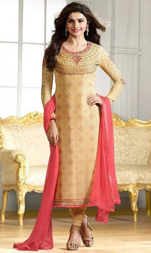Georgette with embroidery P 4293R Replica
