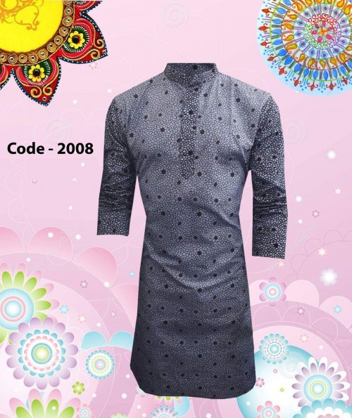 Designers stylish Printed Cotton Panjabi-2008