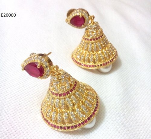 Gold Plated jewelry ornaments Diamond Cut Earrings E-20060