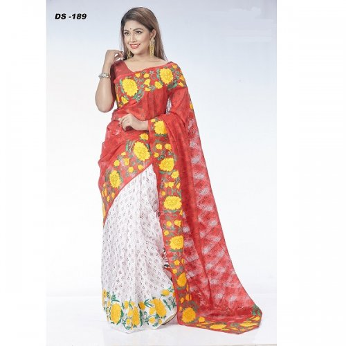 Silk applique saree DS-189