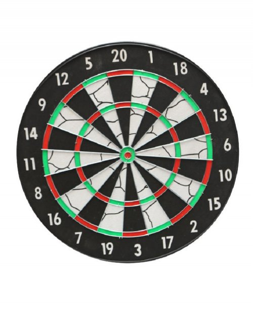 Dart Board Black and White