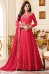 Drashti Dhami un-stitched Georgette embroidery anarkali suit