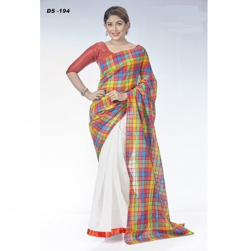 Silk & Lilen saree DS-194