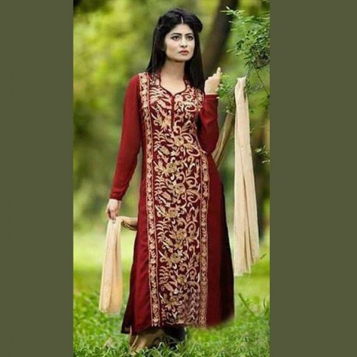 Unstitched Cotton Block Printed Salowar Kameez seblock-331