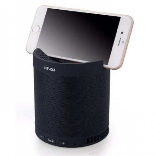 Q3+ Multifunction Mini Bluetooth Mobile Phone Stand Speaker - Black