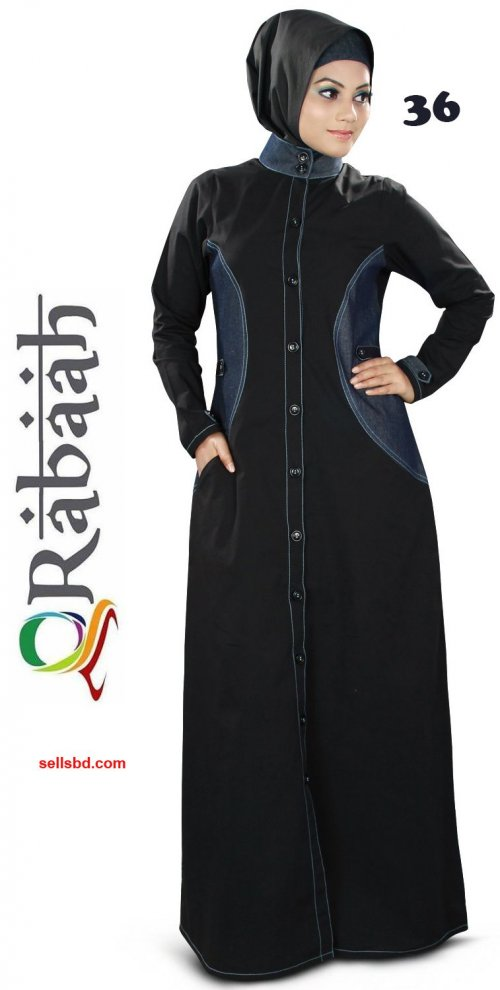 Fashionable muslim dress islamic clothing Rabaah Abaya Burka borka 36