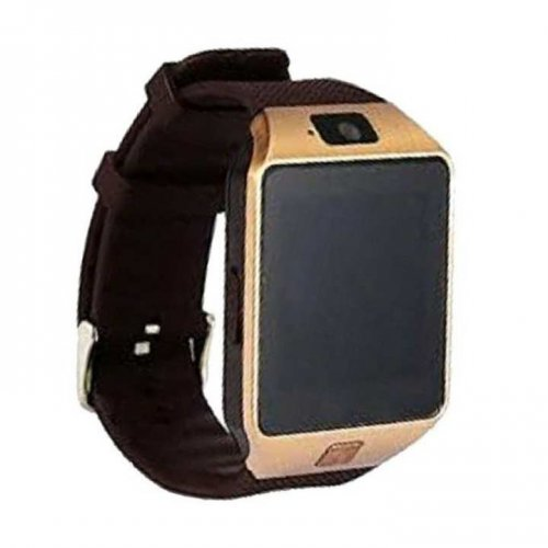SIM Supported Smart Watch Mobile - Gold