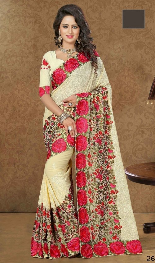Weight Less Georgette saree Hp-111