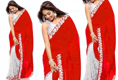 Weight Less Georgette saree SS-228