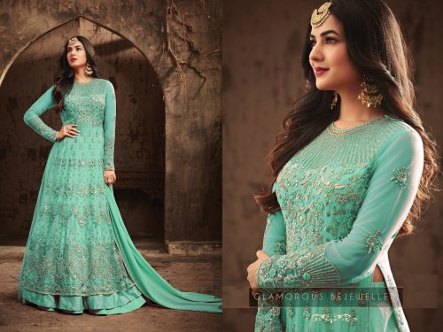 Sonal Chauhan Anarkali Suit paste