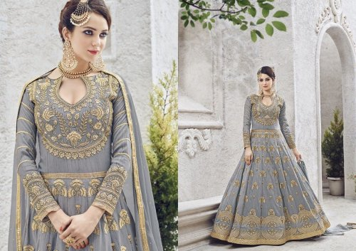 62cd0bb384 Exclusive Georgette Designed Embroidery Long Salwar Suit