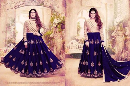 georgette with Embroidery Floor Length Designer salwar suit zara 041