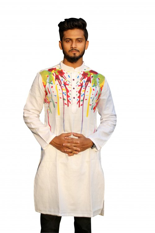 Boisakhi Diamond cotton Punjabi for man BASE_5