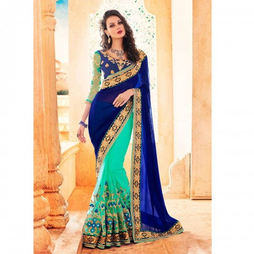 Weight Less Georgette saree SS-705