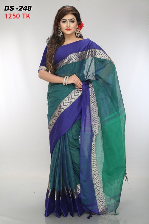 Cotton Tat saree Bois-248