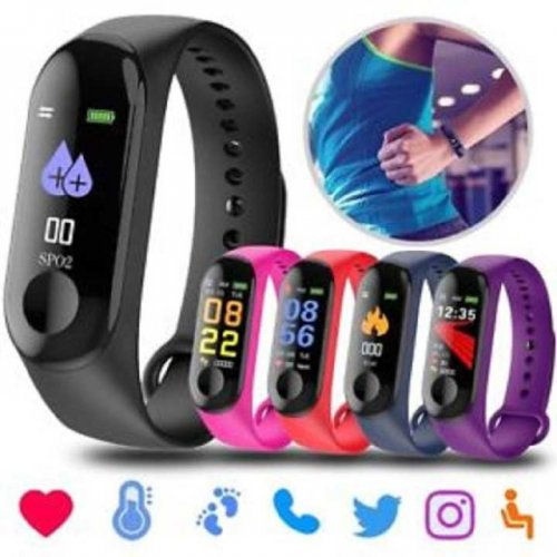 """M3 Smart Band Color Monitor Waterproof Heart Rate Monitor Pedometer """