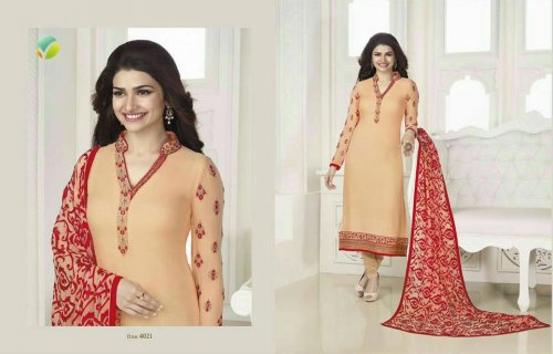 Georgette with embroidery P 4021R Replica