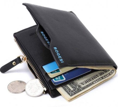 Bogesi Leather Black Men's Wallet