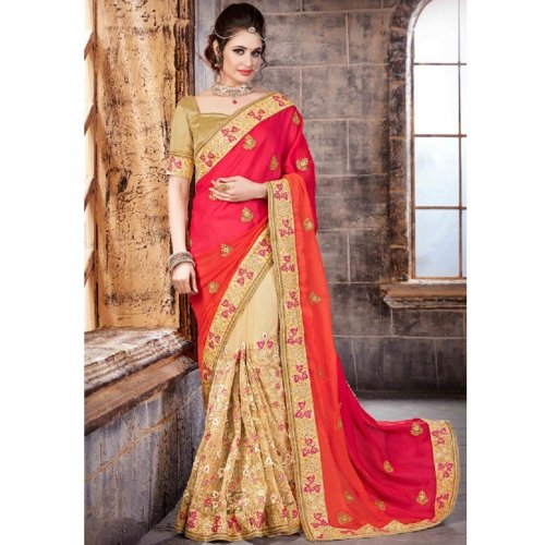 Weight Less Georgette saree SS-649