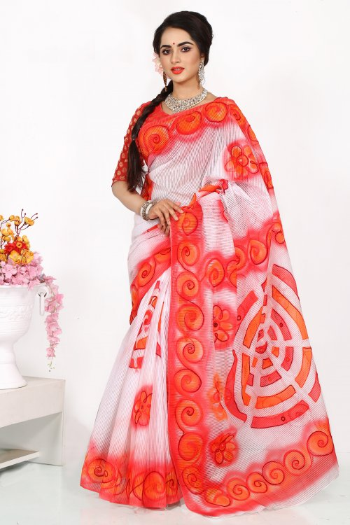 Ari Silk Spray Saree for Woman