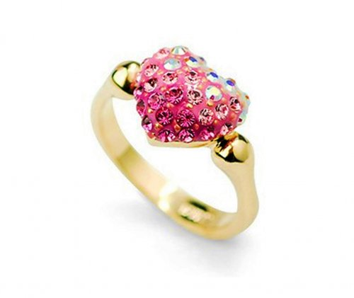Cute Pink Heart Bridal Ring