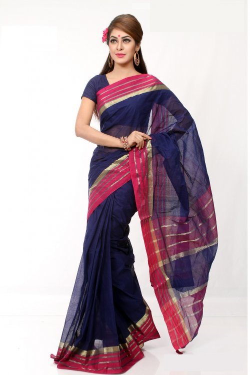 tat Boishakhi Cotton kota handprint Saree Bois-35