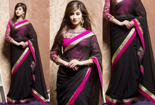 Weight Less Georgette saree SS-166