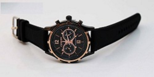 Black Leather Band Quartz Cool Watches 8066D