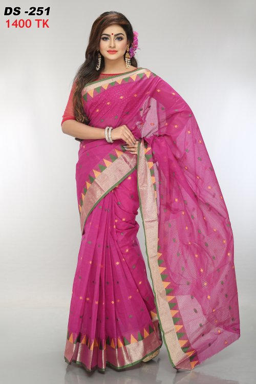 Cotton tat saree for woman bois-151