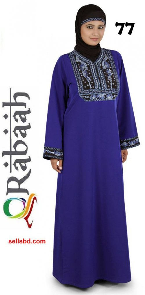 Fashionable muslim dress islamic clothing Rabaah Abaya Burka borka 77