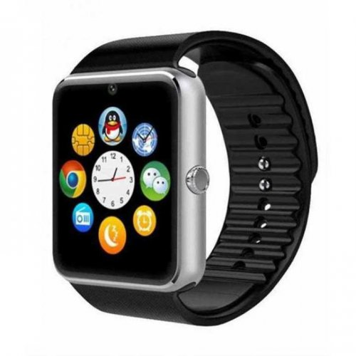 W8 Bluetooth Smart Watch Mobile - Black