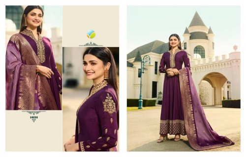 Silk With Banarasi Dola Long Suit for woman
