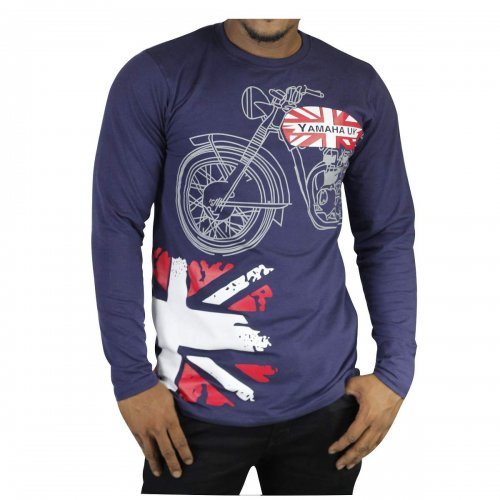 FULL SLEEVE COTTON T-SHIRT FOE MEN(YAMAHA-UK)