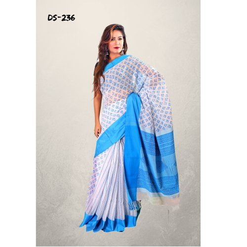 Bibiyana Cotton Tat saree bois-236