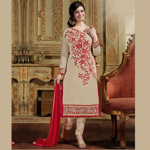 Unstitched Cotton Block Printed Salowar Kameez seblock-335