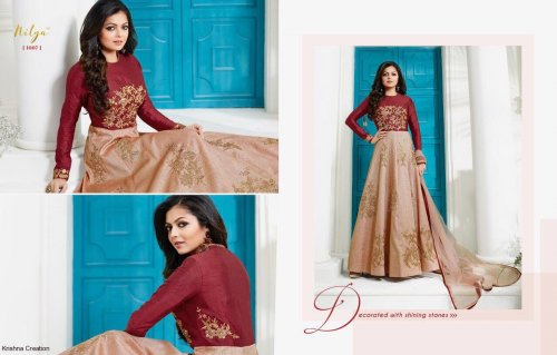 Un-stitched georgette with salwar suit